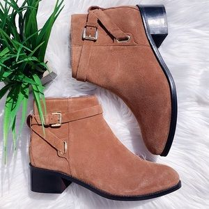 Seychelles Brown Buckled Booties NEW Size 9